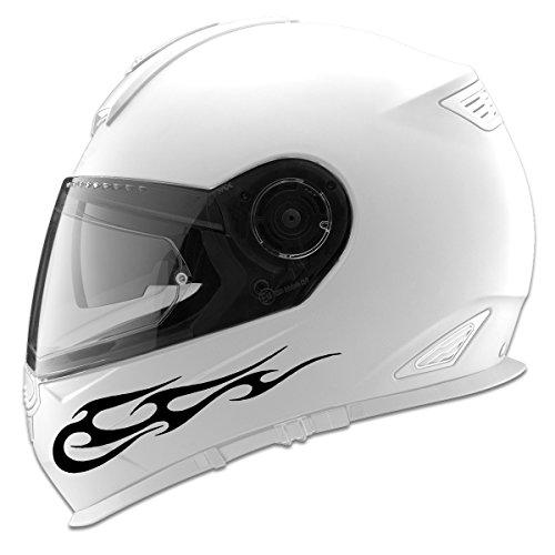 Tribal Flames Design Auto Car Racing Motorcycle Helmet Decal - 5