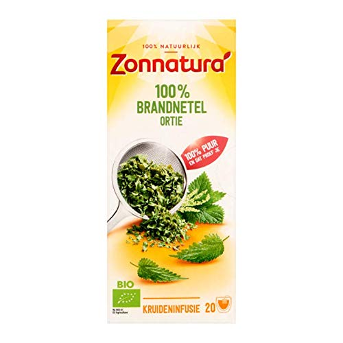 Herbal Tea | Zonnatura | 100% Nettle Herbal Infusion 20 Bags | Total Weight 0.95 ounce