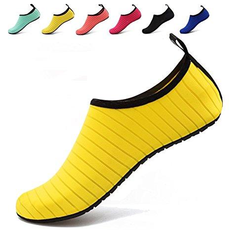 Damen BOLOG Surfschuhe Schuhe Kinder Wasserschuhe für Badeschuhe Strandschuhe Aqua Junge Sommer Barfuß Mädchen Sportschuhe Barefoot Gelb Schwimmschuhe Schuhe Schuhe Schnorcheln TqBzT6r