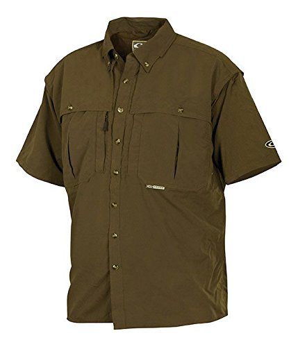 Drake Waterfowl Vented Wingshooter's Casual Shirt Olive Short Sleeve