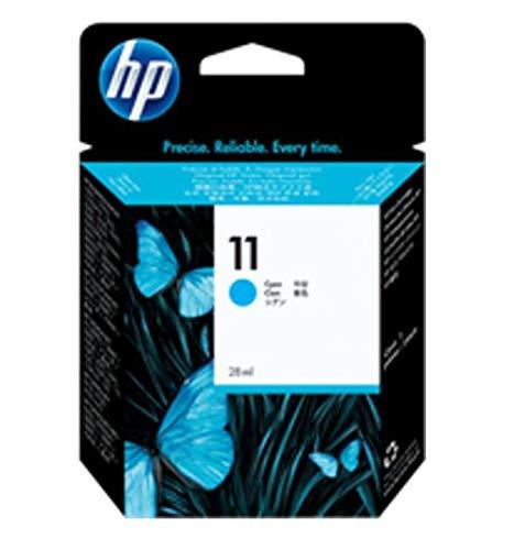 HP 11 Cyan Ink Cartridge (C4836A) for HP Business Inkjet 1000 1100 1200 2300 2600 2800 HP DesignJet 100 110 HP OfficeJet 9110 9120 9130 OfficeJet Pro K850 HP Color Inkjet cp1700 (1100 Inkjet Printer)