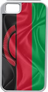 Rikki KnightTM Malawi Flag White Tough-It Case Cover for iPhone 4 & 4s (Double Layer case with Silicone Protection)