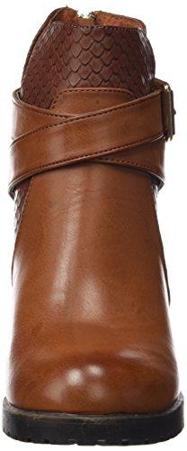 XTI Camel Marrón de Botin Zapatos Camel Cerrada Tacón con Mujer para Punta C Sra 11xqrO