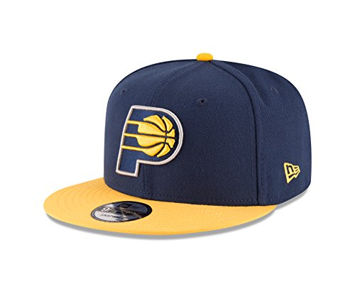 Indiana Pacers Cap - NBA Indiana Pacers Men's 9Fifty 2Tone Snapback Cap, One Size, Navy