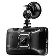 """3.0"""" Screen Dash Cam, HD 1080P Metal Car DVR Camera Strong Infrared Night Vision On-dash Drive Recorder with G-sensor,Parking Monitor,Motion Detection,Loop Recording Support 24/7 Surveillance - VENAS (Black)"""