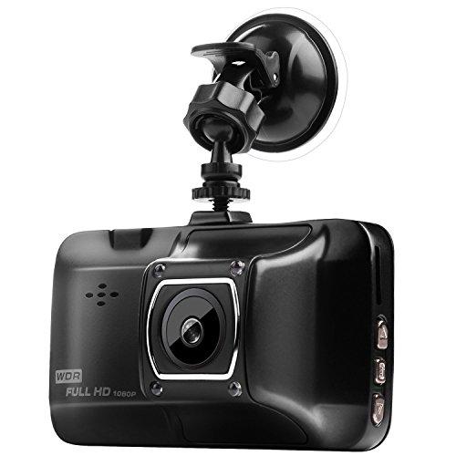 "3.0"" Screen Dash Cam, HD 1080P Metal Car DVR Camera Strong Infrared Night Vision On-dash Drive Vehicle Recorder with G-sensor,Parking Monitor,Motion Detection,Loop Recording - VENAS (Black)"