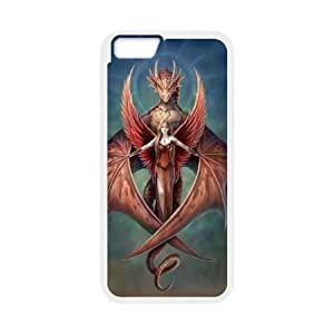 """EZCASE Red Dragon Phone Case For iPhone 6 Plus (5.5"""") [Pattern-2]"""