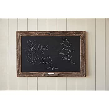 Amazon.com : Vintage Rustic Rough Wood Framed Chalkboard with Chalk ...