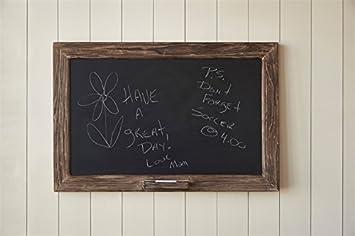 vintage rustic rough wood framed chalkboard with chalk holder 36 in - Wood Framed Chalkboard