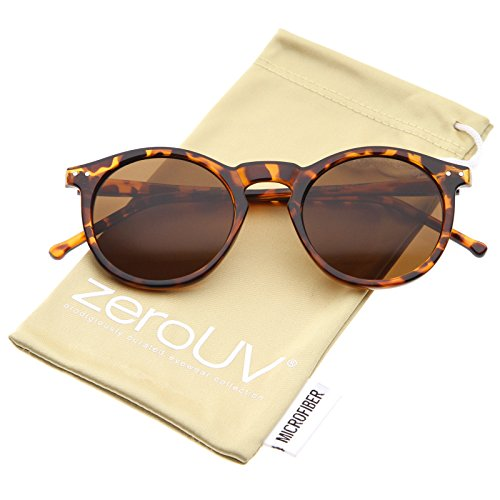 zeroUV - Vintage Inspired Round Horned P-3 Sunglasses with K