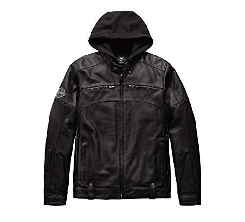 (Harley-Davidson Official Men's Swingarm 3-in-1 Leather Jacket, Black (Medium))