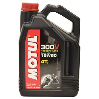 Motul 101363 / 104129 300v 4t competition synthetic oil 15w-50 4-liter (101363 / 104129) ()