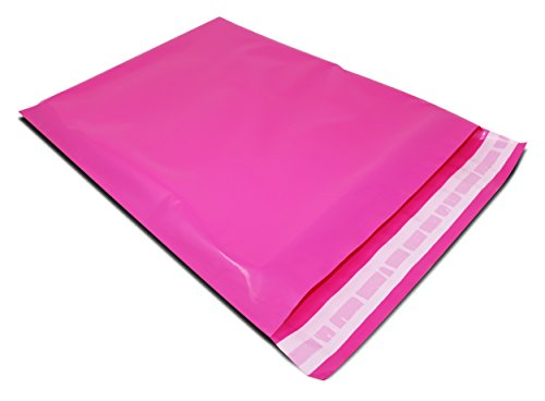 -100-10-x-13-packitchic-hot-pink-colored-premium-poly-mailer-envelope-shipping-postal-bags-tear-proo