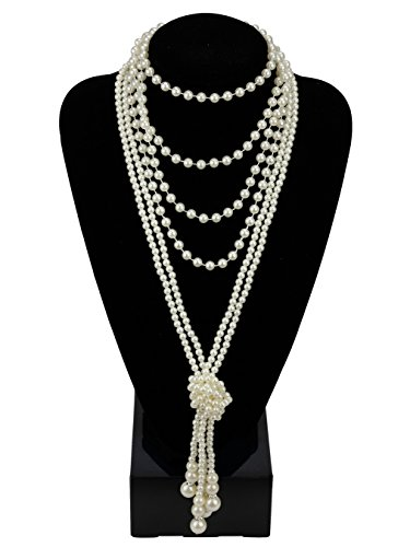 1920s Pearls Necklace Gatsby Accessories 67.8
