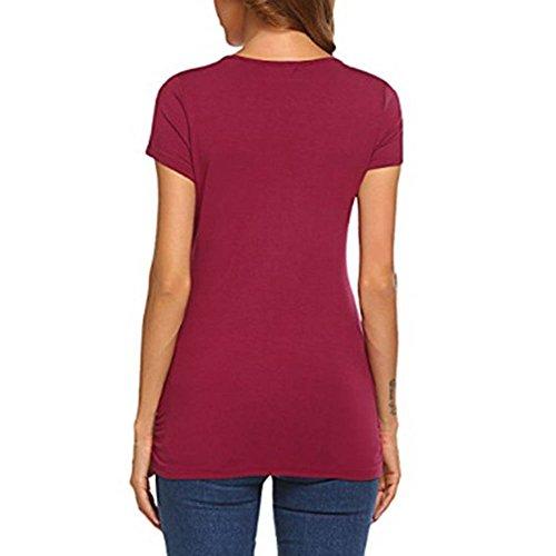 Allattamento Keephen Abbigliamento Donna Da Rosso Vino Per pqB8EPq