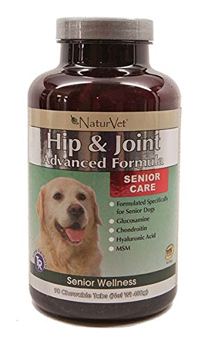NaturVet – Senior Wellness Hip & Joint Advanced Plus Omegas – Help Support Your Pet's Healthy Hip & Joint Function – Supports Joints, Cartilage & Connective Tissues