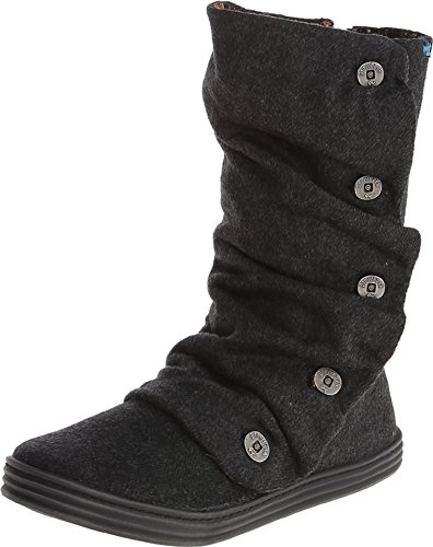 Blowfish Women's Rammish Black Soft Herringbone Flannel 8 M US (Womens Ankle Slouch Boots)