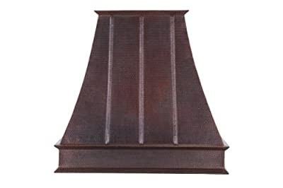 "Premier Copper Products HV-EURO38-C2036BP1-TW-B 38"" 1065 CFM Copper Wall Mounted, Oil Rubbed Bronze"