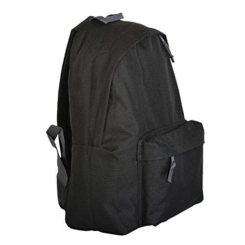 Stabiler Backpack, Rucksack, Sportrucksack für Schule, Uni oder Freizeit - Schwarz - Goodman Design ®