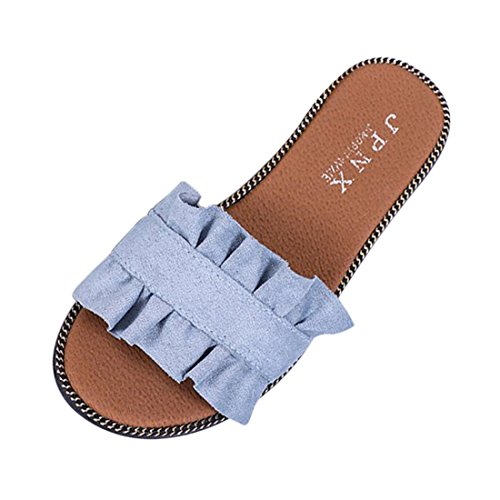 Jiyaru On Beach Slip Blue Slip Flats Women's Slide Anti Soft Sandals Summer Shoes rwxrHn6q