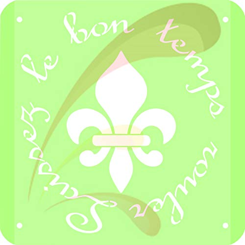 Laissez le bon temps rouler, Cookie stencil, Cake Stencil, Coffee Stencil, Candy Stencil, Cupcake stencil for Royal Icing, powders, sugars, edible glitters and Airbrush
