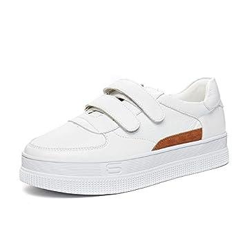 NGRDX&G Zapatos Blancos Zapatos Deportivos Femeninos Zapatos Casuales, Marrón Blanco, ...