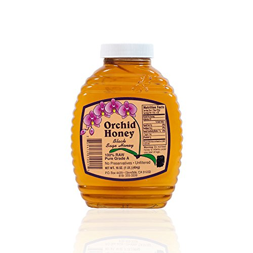 Wild Sage Honey - California Raw Orchid Honey 16 Ounces/1 LB/453g Pure 100% Natural Grage A Gift Wrapped