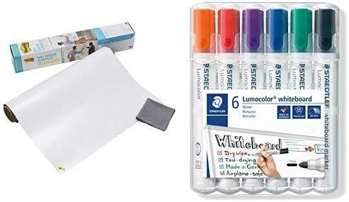 Lavagna Cancellabile Post-it Super Sticky in Rotolo Post-it Colore Bianco,121.9 X 243.8 Cm Lavagna Adesiva da Parete