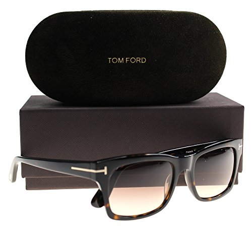 Tom Ford FT0494 Frederik Sunglasses Dark Havana w/Brown Gradient Lens 52F - Purple Ford Eyeglasses Tom