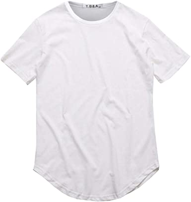 Hombres Casual Manga Corta Camiseta Llano O Cuello Camisas Algodón ...