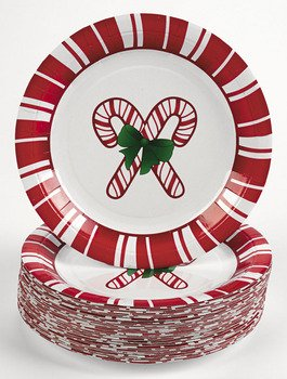 Holiday Candy Cane Dessert Plates  sc 1 st  Amazon.com & Amazon.com | Holiday Candy Cane Dessert Plates: Holiday Paper Plates ...