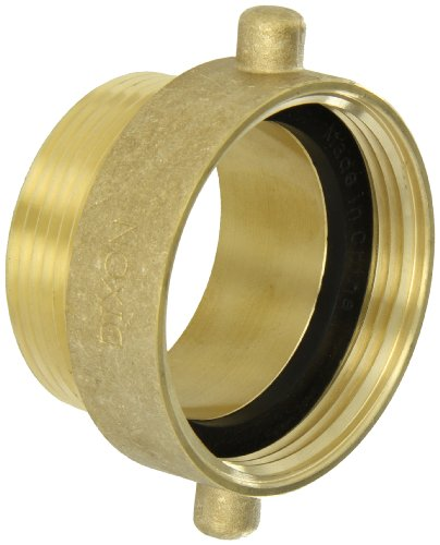Dixon Valve HA2525T Brass Fire Equipment, Hydrant Adapter with Pin Lug, 2-1/2