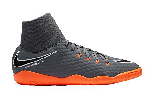 huge discount 6ed3d e8666 Nike Mens Hypervenom Phantomx 3 Academy DF Indoor Shoes [Dark Grey] (10)