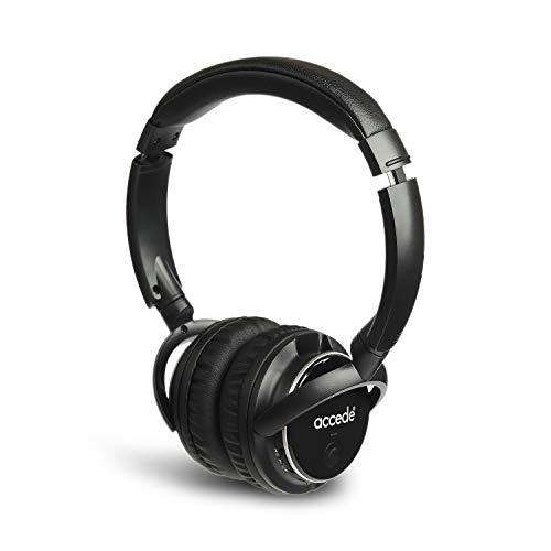 Accede Fuzon Wireless Bluetooth Headphone Compatible with All Smartphones  Black