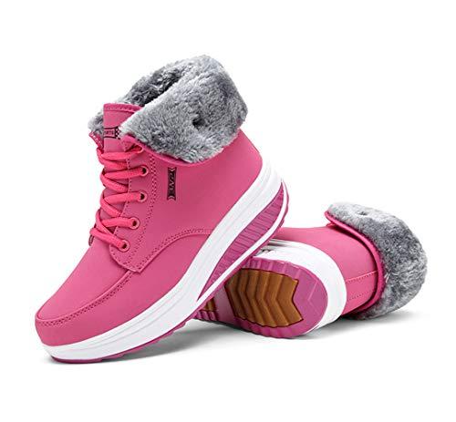 Qzbaoshu Sneaker Donne Scarpe Cunei 4 Fitness Piattaforma amp; Passeggio Ginnastica rosso Dimagrante rB5rd1nxq