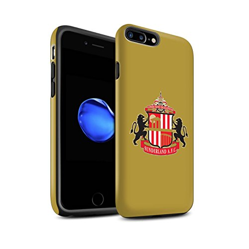 Officiel Sunderland AFC Coque / Matte Robuste Antichoc Etui pour Apple iPhone 7 Plus / Or Design / SAFC Crête Club Football Collection