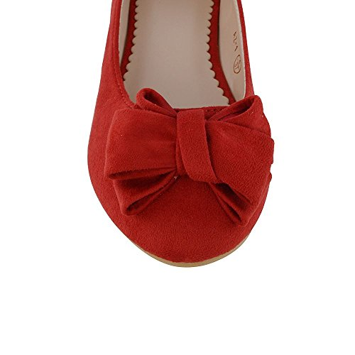 RED Pumps dames Mocassins Dolly ESSEX Chaussures On Flat Slip Womens pour Bow Ballerina GLAM FAUX SUEDE Ballerines New wAIn1qxgZ