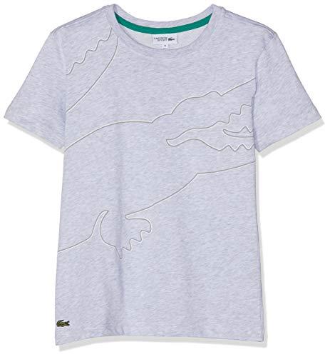T platin Lacoste Shirt Chiné argent blanc Gris 7at Garçon aWWAwpvHRq