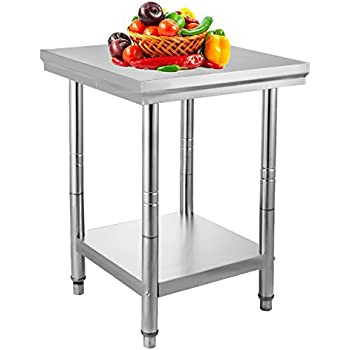 Amazon.com: VEVOR NSF Stainless Steel Work Table Prep Work Table for ...