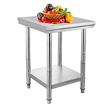 Amazon.com: VEVOR NSF Stainless Steel Work Table Prep Work Table for ...