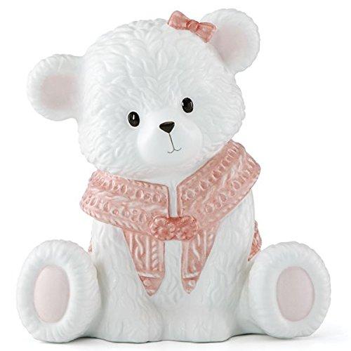 Lenox Baby Bear Girl Bank, Pink