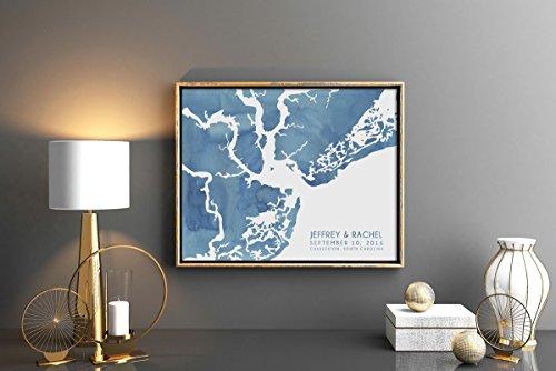 Charleston South Carolina Map Art - Watercolor Series | Wall Art Paint | Painted Water Color