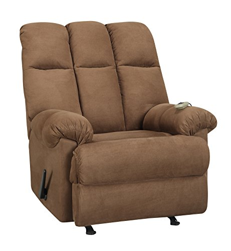 Dorel Living Padded Dual Massage Recliner, Chocolate