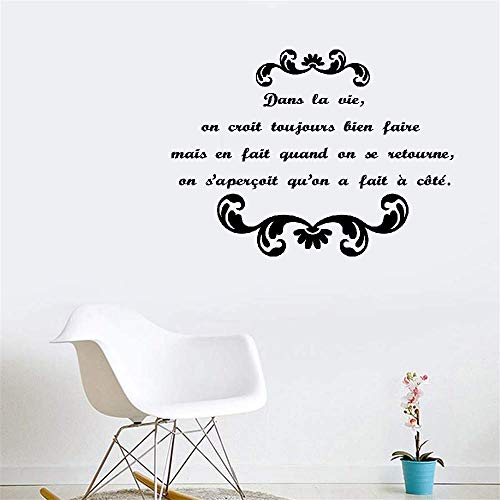 Dozili Vinyl Wall Decal Sticker Wall Art Quote Quote Dans La Vie On Croit Toujours Bien Faire for Wc Toilet Hose Home Decoration Gift Idea 12