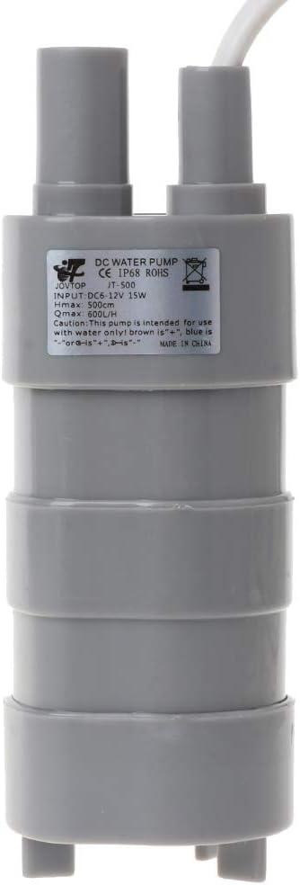 fivekim 12V 1.2A Dc Micro Submersible Motor Water Pump 12L//Min 600L//H 5M 5.5X2.1 Female 12V Dc Submersible Pump