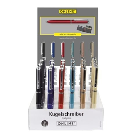 ONLINE Schreibgeräte GmbH Min Portemonnaie Counter Display Mini Wallet Ballpoint Pen (18 Pens) Ballpoint Pen (Pen Counter Display)