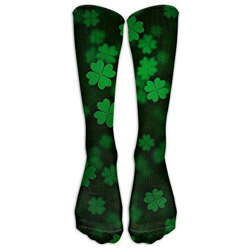 LJB Unisex Irish Shamrock Knee High Long Socks Athletic Sports Tube Stockings For - Canada Usps Ship To