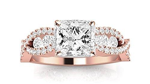1.05 Ct Tw Princess Diamonds - 3