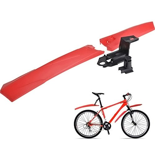 ROLYPOBI ▶ Bicycle Accessories Mountain Bike Cycling Bike Front Rear Mud Guards Mudguard Fenders Set (Red)