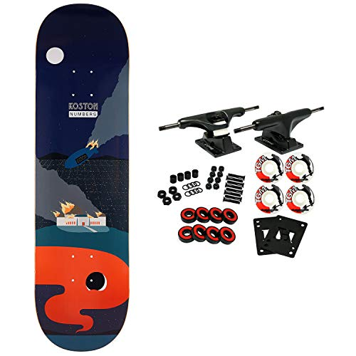 Koston Wheels - Numbers, Skateboard Complete Koston Edition 6 Series 1 8.5